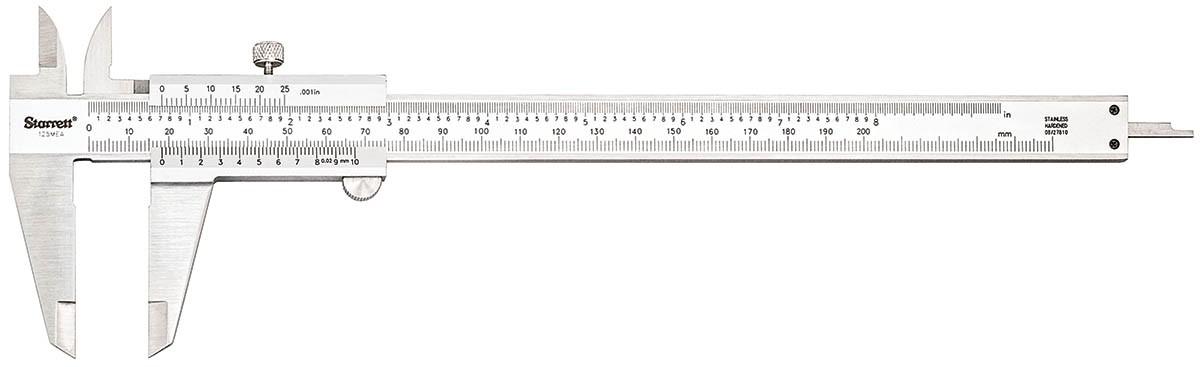 VERNIER CALIPERS RANGE 200mm / 8″ PN 125MEA-8/200