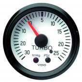 VDO WHITE MECHANICAL TURBO CHARGER GAUGE 150.206