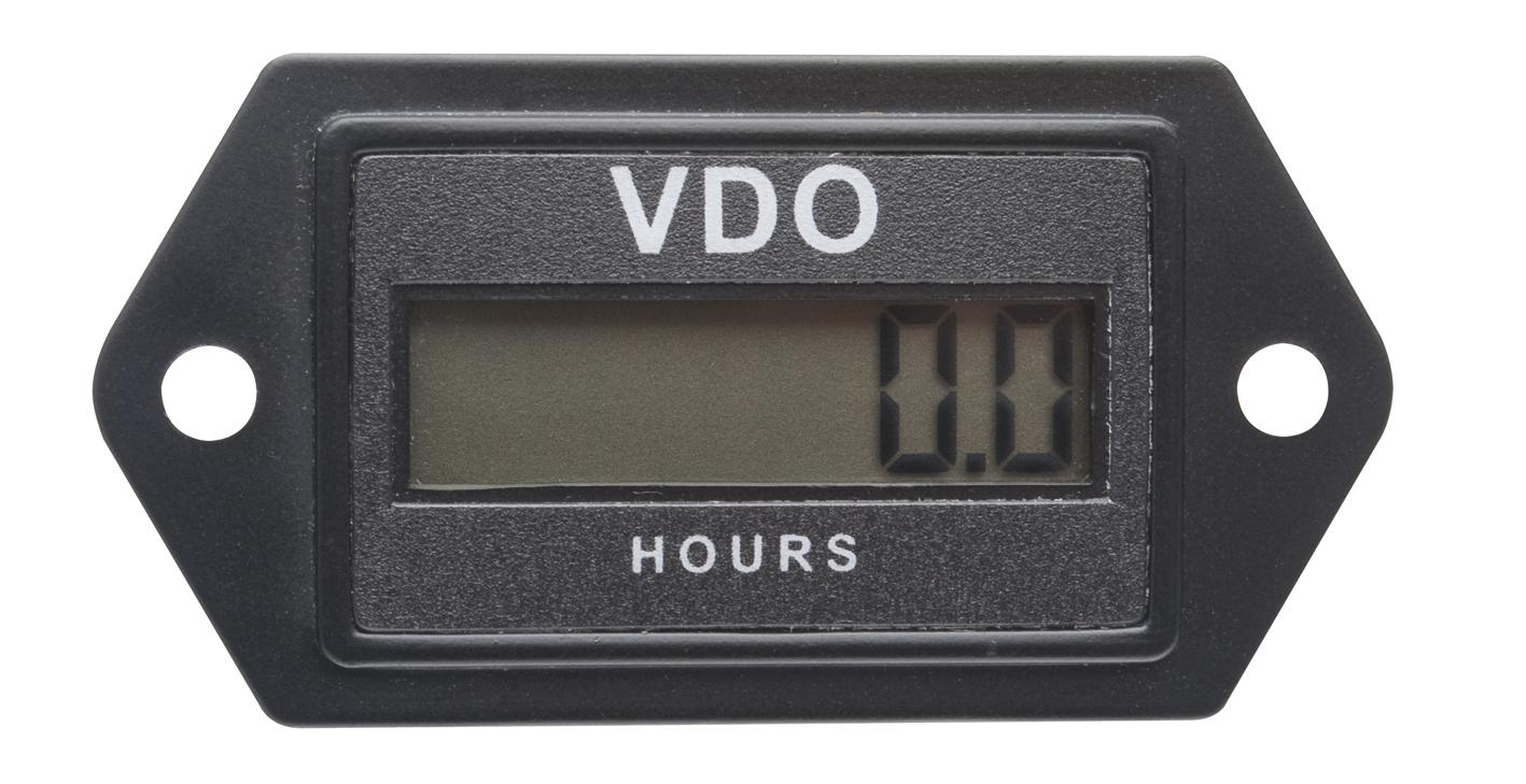 VDO RECTANGULAR RE-SETTABLE LCD HOURMETER 331.535 on