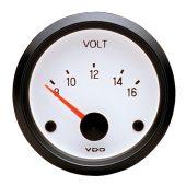 VDO WHITE VOLTMETER 8-16V 332.241