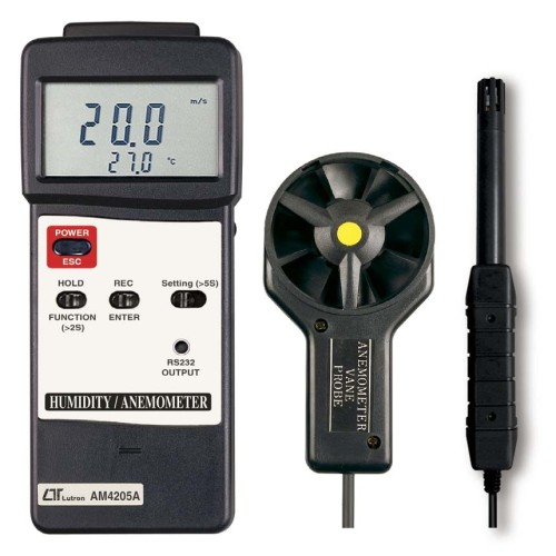 LUTRON AM4205A ANEMOMETER WITH HUMIDITY