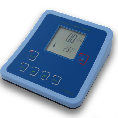 BENCH TOP CONDUCTIVITY METER WITH TEMP SENSOR CC-511 PACKAGE