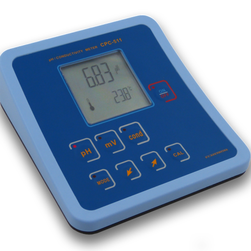BENCH TOP PH/EC METER WITH TEMP SENSOR CPC-511 PACKAGE