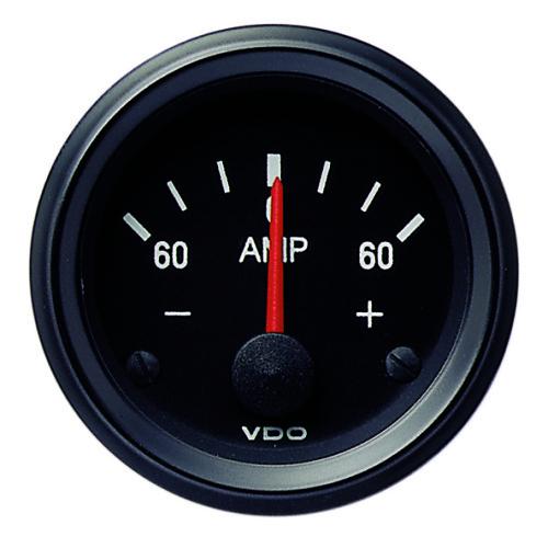VDO INTERNAL SHUNT AMMETER 60-0-60AMP 190037002