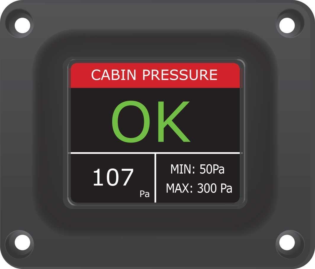 HUMMINGBIRD PANEL MOUNT CABIN PRESSURE MONITOR HMPS3000KIT