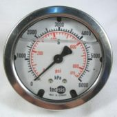 MODEL 1453 PRESSURE GAUGE COMPOUND -100..+500 KPA/INHG