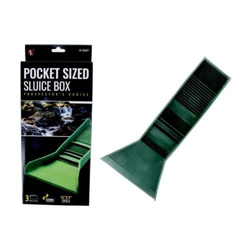 BJK Pocket Sluice – Green TPR Plastic with Built in Mat