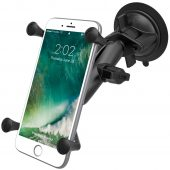RAM-B-166-UN10U TWIST-LOCK™ SUCTION CUP MOUNT WITH X-GRIP® LARGE PHABLET CRADLE