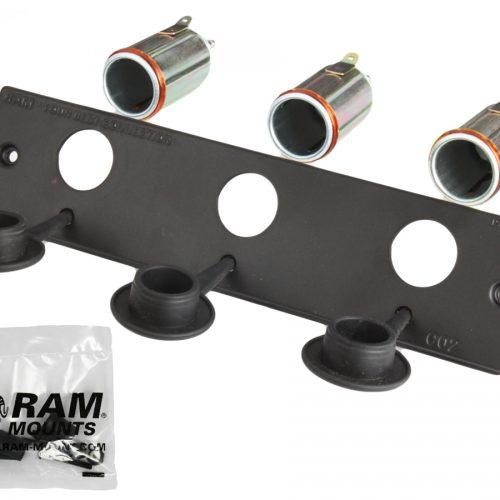 RAM 12 VOLT LIGHTER RECEPTACLE FACEPLATE RAM-FPZ-CIG3
