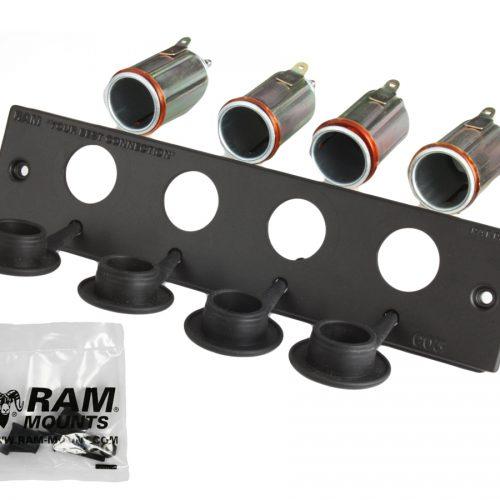 RAM 12 VOLT LIGHTER RECEPTACLE FACEPLATE RAM-FP2-CIG4