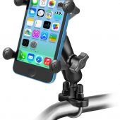 RAM-B-149Z-UN7U RAM HANDLEBAR RAIL MOUNT U-BOLT BASE AND X-GRIP® PHONE CRADLE