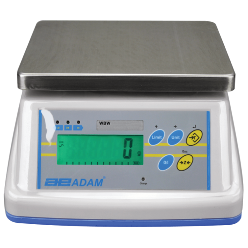 ADAM EQUIPMENT WBW16 WASH-DOWN SCALES 16KG X 2G