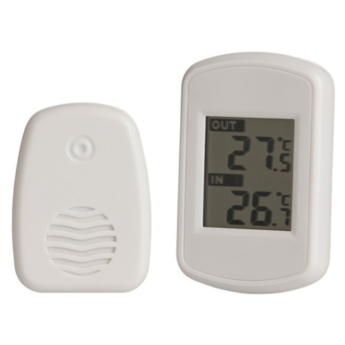 WIRELESS INSIDE & OUTSIDE LCD THERMOMETER XC0321