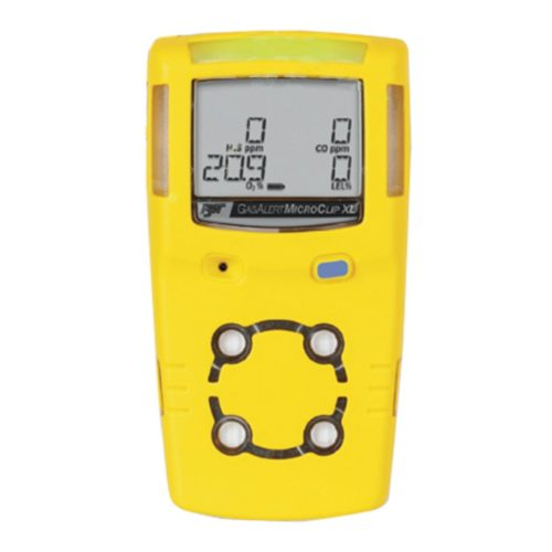 GAS ALERT MICROCLIP XL GAS DETECTOR/MONITOR CONFINED SPACE H25, CO, O2, LEL