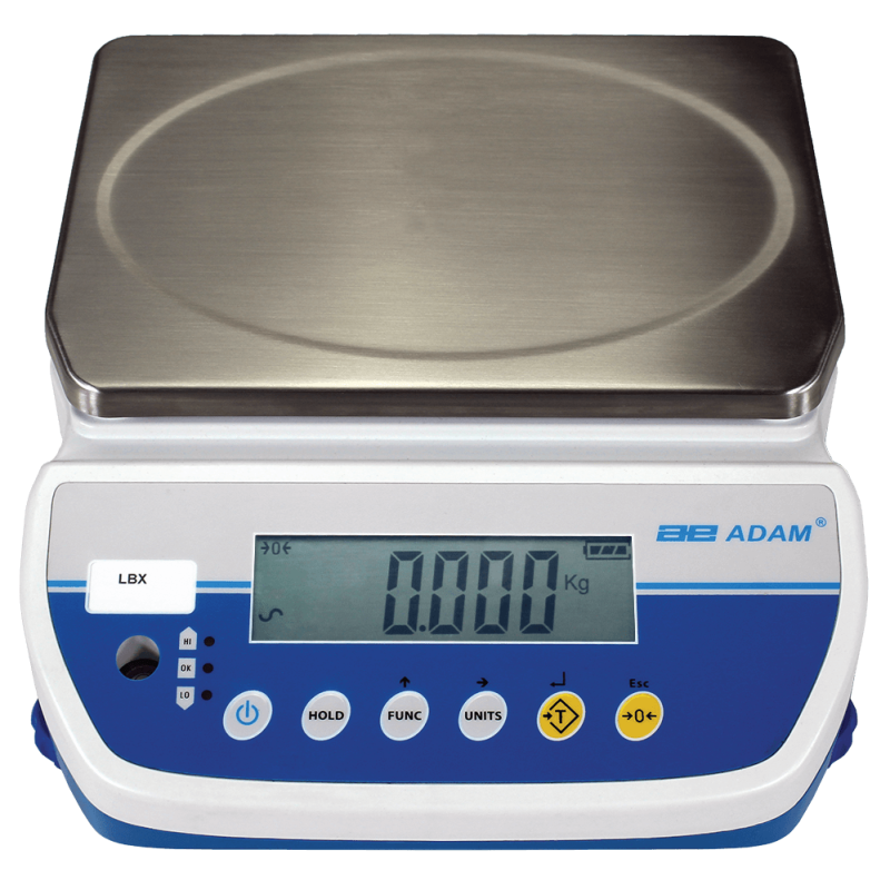 ADAM EQUIPMENT LBX30 BENCH SCALES 30KG X 5G