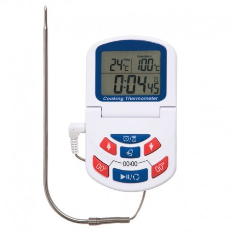 DIGITAL OVEN THERMOMETER AND TIMER WITH CLOCK 0-300°C